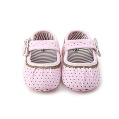 Beautiful New Born Baby Girl Shoes Princess Polka Dots With Flowers Soft Cotton Toddler Crib Infant Little Kid Sole Anti-slip First Walker Elegant In Smell Baby Shoes