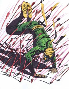 Steve Rude commissions: Iron Fist, Gwen Stacy, Ronan the Accuser! Marvel Comic Character, Comic Book Characters, Marvel Characters, Comic Books Art, Comic Art, Marvel Comics, Marvel E Dc, Marvel Heroes, Marvel Universe