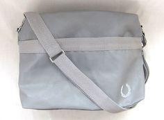 Fred Perry Mens Deconstructed Shoulder Bag Storm 75