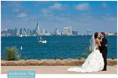 Ocean View Bride and Groom Portrait - San Diego Wedding Photographer, Beach side wedding, wedding portrait ideas