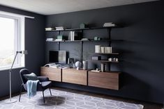 Johnson Naylor are responsible for the interior architecture and design of the apartments, common areas and residents facilities at Fitzroy Place, London. Fitzroy Place, Home Office, Common Area, Interior Architecture, Bookcase, Shelves, Furniture, Material, Design
