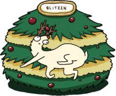 Santa's Eight Derpy Reindeer Christmas Mood, Merry Christmas, Holiday Storage, Christmas Pictures, Cute Cartoon, Squirrel, Reindeer, Bowser, Santa