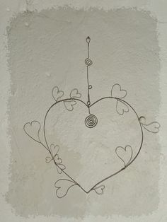 Etsy - Shop for handmade, vintage, custom, and unique gifts for everyone Art Fil, Wire Drawing, Infinity Love, Creation Deco, Wire Crafts, Sun Catcher, Wire Art, String Art, Decoration