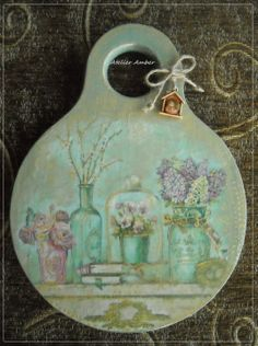 vintage blue decoupage https://www.facebook.com/AtelierAmberVarnaBG