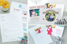Modular Holiday Card Sales Kit: Merry Modern Collection