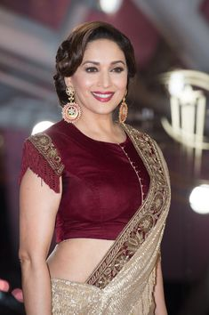 """Madhuri Dixit Photos - Madhuri Dixit attends the """" MR Holmes premiere during Marrakech International Film Festival on December 2015 in Marrakech, Morocco. - Marrakech International Film Festival : Day two Indian Bollywood Actress, Beautiful Bollywood Actress, Most Beautiful Indian Actress, Bollywood Fashion, Beautiful Actresses, Indian Actresses, Saree Fashion, Bollywood Saree, Indian Fashion"""
