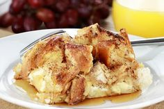 french toast casserole, along with chicken and biscuits, spaghetti and sausage casserole