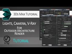 Lighting + Camera + VRay render settings for outdoor architecture in 3ds...