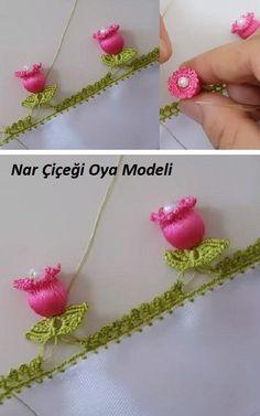 Nar Çiçeği Oya Modeli #çeyizlikpatik #örgü #örgüyelek #şal #örgümodelleri #örgümüseviyorum #örgüçanta #knitting #knittingpatterns #knittinglove #knittinginstructions #knittingbasics #gelin #çeyiz #çeyizlik #oya #oyamodelleri #oyaörnekleri #oyamodeli #şal #shawl #crochet #çeyiz #bohça #patik #kolaypatik #patikmodelleri #needlelace #lif #lifmodelelri #liförneği Crochet Cat Toys, Crochet Gifts, Crochet Doilies, Crochet Flowers, Crochet Borders, Afghan Crochet Patterns, Crochet Stitches, Knitting Patterns, Nylon Flowers