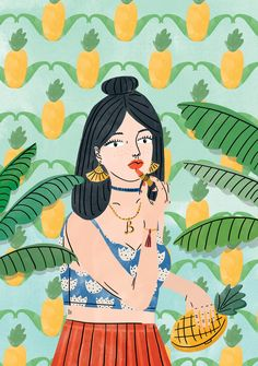 Bodil Jane is an Amsterdam-based illustrator who graduated with honors from the Willem de Kooning Academy in Rotterdam. Willem De Kooning, Love Illustration, Digital Illustration, Portrait Illustration, Illustration Fashion, Character Illustration, Fashion Illustrations, Botanical Illustration, Watercolor Illustration