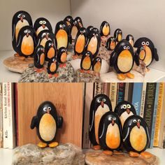 #pinguins #instaart #pebble #pebbleart #art #arts #çakıltaşı #stoneart #stonepaint #painting #handmade #vscoart #creative #creativity #craft