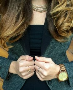 I've been keeping my eyes on all the fall trends lately, and my favorite is quickly becoming wood watches. Check out how I styled mine! jordwatch #woodwatch #fallaccessories @jordwoodwatches