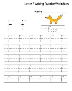 Kindergarten letter l writing practice worksheet printable writing letter f worksheet for preschool and kindergarten activity shelter ibookread Download