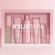 Shop the complete Kylie Skin Set by Kylie Jenner. Comes with Foaming Face Wash, Eye Cream, Vitamin C Serum, Vanilla Milk Toner, Face Moisturizer and Walnut Face Scrub. care dark circles care logo care skin care tips care vision Beauty Care, Beauty Skin, Beauty Makeup, Makeup Style, Beauty Hacks, Kylie Cosmetica, Maquillaje Kylie Jenner, Skin Line, Makeup Remover Wipes