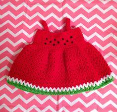 Crocheted Watermelon Dress by CrochetByDeeMarie on Etsy