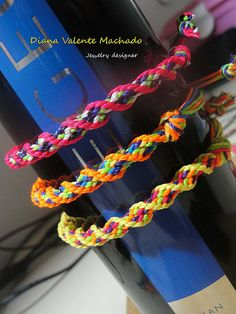 Pulseiras coloridas  Kumihimo bracelets