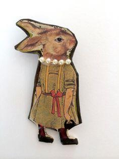 Rabbit Brooch I