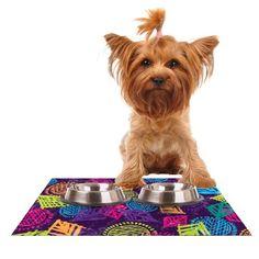 Kess InHouse Emine Ortega African Beat Purple Feeding Mat for Pet Bowl 18 by 13Inch >>> For more information, visit image link.