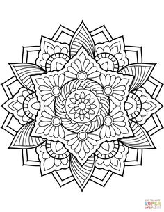 Flower Mandala Coloring Page From Floral Mandalas Category Select 29500 Printable Crafts Of Cartoons