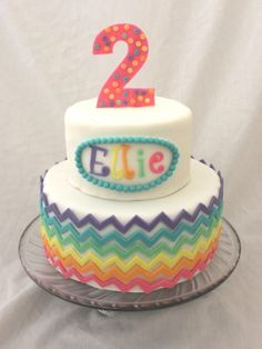Top Chevron Cakes - Top Cakes -Love the rainbow not the 2 ;)