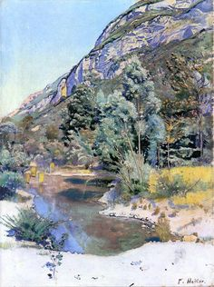 At the Foot of Mr. Saleve (Ferdinand Hodler - circa No dates listed)