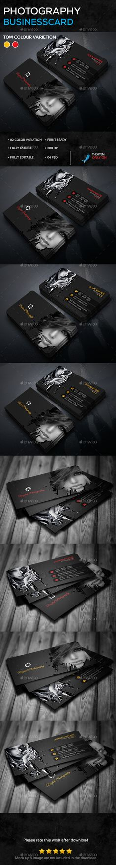 Photography Business Card Template PSD #download