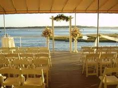 Ceremony set up on our Sunset Deck #lesnerinn #weddings