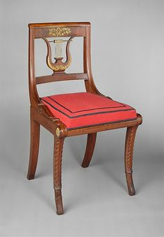 AMERICAN FURNITURE 1815 - 1918 ......... c1818 Side chair, NYC, Attributed to Charles-Honoré Lannuier (1779–1819)