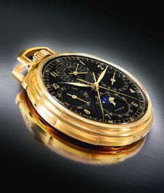 Patek Philippe Ref. 658 Black Dial Pocket Watch Fetches $527,000