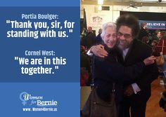 #Women4Bernie's own@Portia Boulger and Dr. Cornell West in Iowa