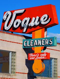 Vogue Cleaners ~ Retro Neon Sign. Butte, Montana. @designerwallace