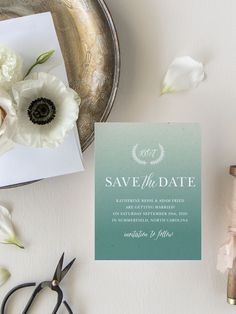 Rustic Ombre Wedding Save the Date Cards Luxury Wedding Invitations, Elegant Invitations, Wedding Stationary, Save The Date Magnets, Save The Date Cards, Engagement Ideas, Wedding Engagement, Destination Wedding Save The Dates, Modern Save The Dates