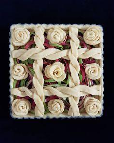 rose apple peel pie