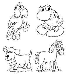 Kids Coloring Pages (Great for Scrapbook Paper Piecings)