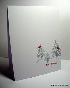 Susan's peaceful holiday card, with Stardust sparkle pen on top of the gray