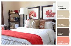 Paint colors from Chip It! by Sherwin-Williams, red, coral bedroom