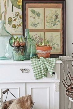 Bring the garden indoors. Pretty design ideas for the gardener. VIBEKE DESIGN