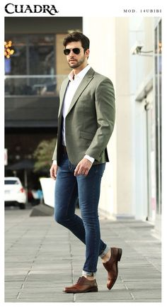 Ein Mann mit Stil Fashion outfideman is part of Trendy mens fashion - Blazer Outfits Men, Mens Fashion Blazer, Outfits Casual, Stylish Mens Outfits, Mode Outfits, Suit Fashion, Fashion Outfits, Casual Wear, Mens Casual Suits