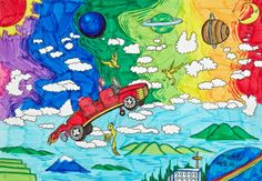 'Untitled' by Frank Lin, Aged 12, China: 3rd Contest, Bronze #KidsArt #ToyotaDreamCar