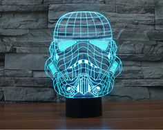7 Colors Stormtrooper 3D Table Lamp BB 8 Master Yoda Jedi Star Wars Millennium Falcon Action Figures Darth Vader Mask Led Toys #Affiliate
