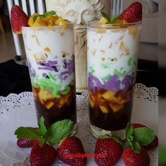 Indonesian Desserts, Asian Desserts, Indonesian Food, Indonesian Recipes, Cocktail Desserts, Dessert Drinks, Oreo Pudding Dessert, Balsamic Carrots, Milk Tea Recipes