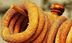 κουλούρι Θεσσαλονίκη - round bread roll from Thessaloniki - Greek Cooking, Cooking Time, Cooking Recipes, Greek Recipes, Desert Recipes, Greek Desserts, Food Network Recipes, Food Processor Recipes, Greek Bread