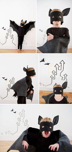 Bat costume-- I love the fanged mask!