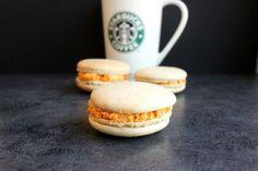 Starbucks pumpkin spice latte macaroons, yum!