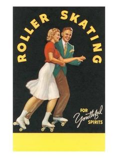 Summer Game or Sport: Roller Skating (not really . it& baseball . but I like the picture) Chicago Roller Skate Co. postcard ca. Chicago Roller Skates, Roller Rink, Roller Disco, Roller Derby, Roller Skating, Skating Rink, Figure Skating, Skating Party, Vintage Advertisements