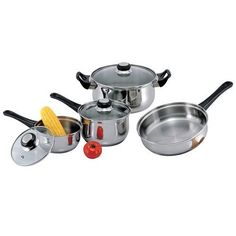 7 Piece Stainless Steel Cookware Set * You can get more details by clicking on the image.