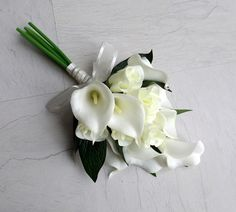 Image result for over arm calla lily bouquet