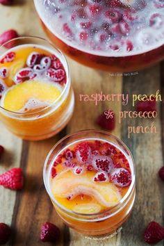 Raspberry Peach Prosecco Punch.