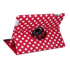 Rotating iPad Case Magnetic DOT Pattern Folding Leather Stand Cover for Apple iPad Air