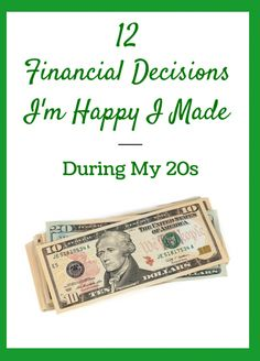 12 Financial Decisions I'm Happy I Made During My 20s - Mandy Living Life